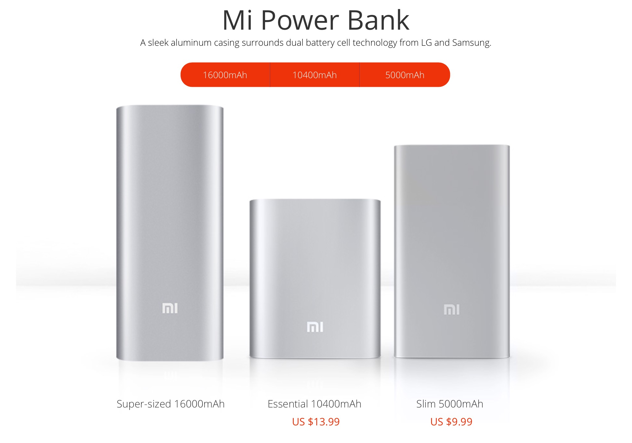Mi Power Banks family