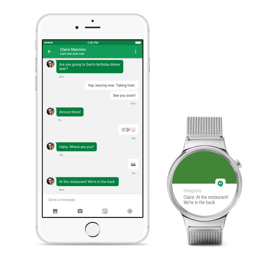 iPhone 6 a hodinky s Android Wear