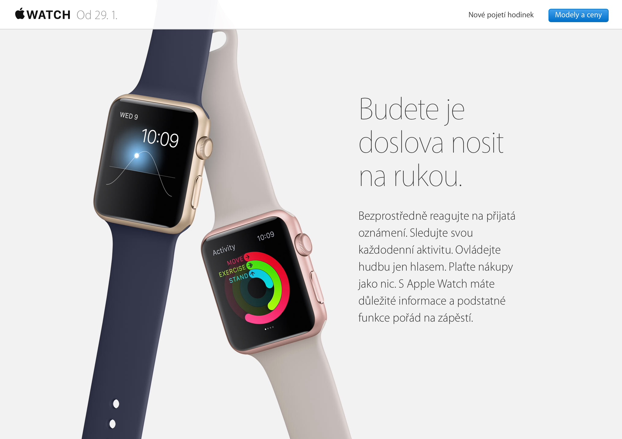 Apple Watch na českom Online Apple Store